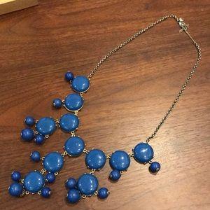 JCrew blue statement necklace